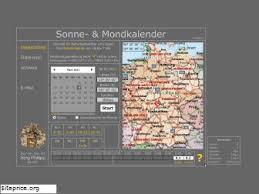Interaktiver Sonne- & Mondkalender für Jäger